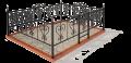 Кованая ограда в Нижневартовске